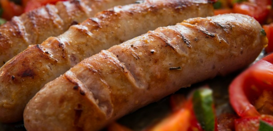 Grilled Rabbit Sausage Over Penne Pasta Recipe